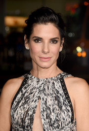 Sandra Bullock swept her hair back into a romantic bun for the premiere of 'Our Brand is Crisis.'
