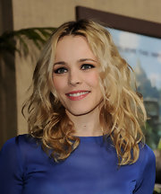 Rachel McAdams wore her blonde hair in mussed-up curls at the premiere of 'Journey 2: The Mysterious Island.'