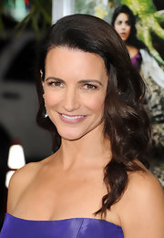 Kristin Davis wore her long locks in side-swept curls at the premire of 'Journey 2: The Mysterious Island.'