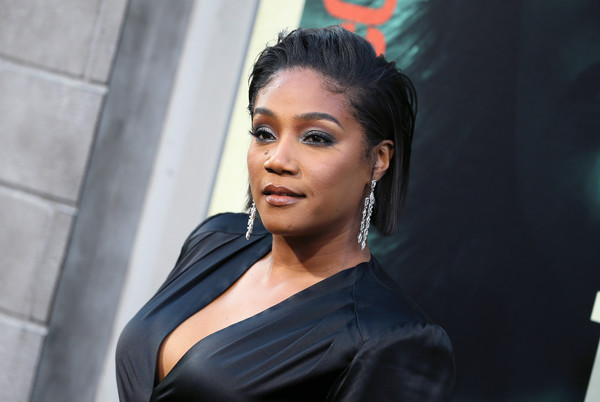 More Pics of Tiffany Haddish Smoky Eyes (1 of 12) - Tiffany Haddish Lookbook - StyleBistro [warner bros pictures,the kitchen,hair,face,lady,beauty,eyebrow,hairstyle,fashion,black hair,chin,lip,arrivals,tiffany haddish,california,hollywood,tcl chinese theatre,premiere,premiere]
