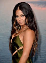 Christina Milian sported gorgeous mermaid waves at the premiere of 'Kong: Skull Island.'