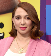 Maya Rudolph looked retro-chic with her flip at the premiere of 'The Lego Movie 2: The Second Part.'