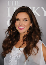 Audrina Patridge wore her ultra long tresses in flowing waves and curls at the premiere of 'The Lucky One.'