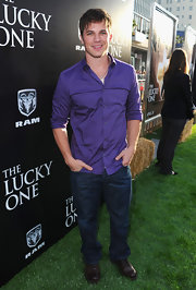Matt Lanter isn't afraid to wear purple!
