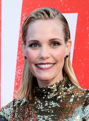 Leslie Bibb rocked wet-look hair at the premiere of 'Tag.'