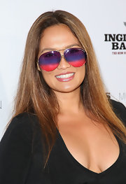 Tia Carrere left her hair down with a center part for the premiere of 'Inglourious Basterds.'