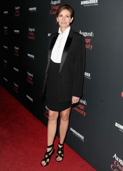 Julia Roberts opted for a tux-inspired Givenchy skirt suit when she attended the 'August: Osage County' LA premiere.