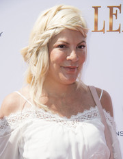 Tori Spelling went boho with this loose braid at the premiere of 'Leap!'