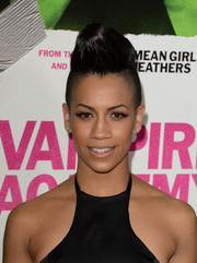 Dominique Tipper looked uber cool with her sky-high fauxhawk during the 'Vampire Academy' premiere.