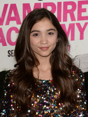 Rowan Blanchard wore her lush locks down in lovely waves during the 'Vampire Academy' premiere.