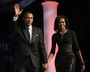 Michelle Obama loaded up on the bangles when she attended the Phoenix Awards.