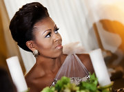 Michelle Obama oozed glamour with this pompadour during the 2012 Governors' Dinner at the White House.