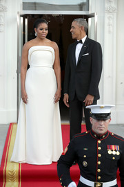 Michelle Obama Strapless Dress