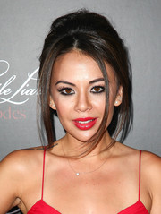 Janel Parrish rocked an edgy beehive at the 'Pretty Little Liars' 100th episode celebration.