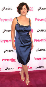 Marcia Gay Harden wore a pair of delicate silver strapped sandals for the Prevention Magazine soiree.
