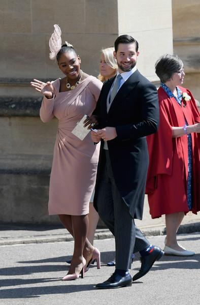 Serena Williams (In Versace) And Alexis Ohanian
