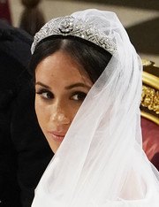 For her wedding to Prince Harry, Meghan Markle wore a stunning diamond tiara made for Queen Mary in 1932.