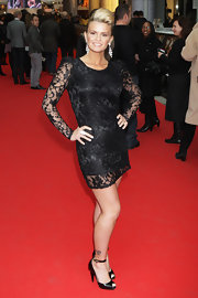 "Kerry Katona showed off her stunning lace clad dress while hitting the ""Prince of Persia' event."