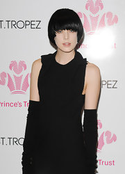 Agyness showed off her jet black hair while attending an event in London.