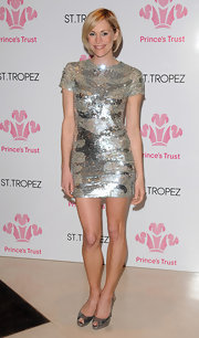 Leggy beauty Jenni Falconer  stole the spotlight at The Prince's Trust Spring Ball 2010 in this sparkly sequined mini-dress.