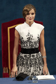 Queen Letizia of Spain attended the Princesa de Asturias Awards wearing a lovely diamond bracelet.
