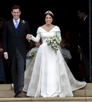 Princess Eugenie was the picture of elegance in her flowing wedding gown, designed by Peter Pilotto and Christopher De Vos.