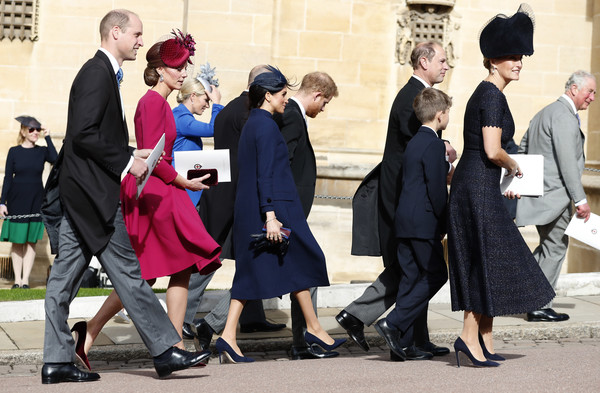 More Pics of Kate Middleton Fascinator (6 of 29) - Kate Middleton Lookbook - StyleBistro [event,fashion,dress,tradition,eugenie of york,william,harry,charles,catherine,duchess,l-r,cambridge,sussex,duke of sussex]