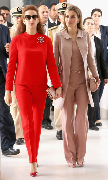 Princess Lalla Salma Pumps [fashion model,fashion,clothing,red,fashion show,eyewear,haute couture,lip,runway,suit,visit,morocco,spain,spanish,lalla salma centre for research against cancer,rabat,royals,letizia,princess,lalla salma of morocco]