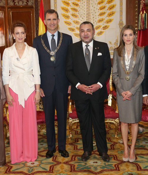 Princess Lalla Salma Fitted Jacket [photo,suit,formal wear,event,tuxedo,ceremony,royals,felipe vi,lalla salma of morocco,mohammed vi of morocco,letizia,l-r,morocco,spanish,spain]