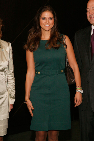 Princess Madeleine Day Dress [madeleine of sweden,clothing,dress,cocktail dress,fashion,fashion model,formal wear,hairstyle,fashion design,event,suit,new york city,swedish-american chamber of commerce green summit - from farm to fork,goldman sachs]