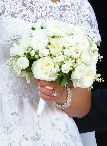 Princess Madeleine Engagement Ring [bouquet,flower,white,cut flowers,flower arranging,rose,plant,pink,floristry,garden roses,madeleine of sweden,christopher oneill,silvia,king carl gustaf xiv,flowers detail,the royal palace,sweden,stockholm,wedding of princess madeleine,wedding ceremony]