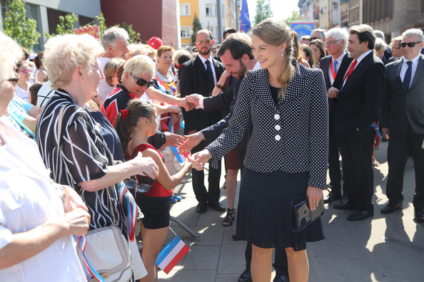 Princess Stephanie of Luxembourg Blazer [event,crowd,pedestrian,guillome,stephanie,esch-sur-alzette,luxembourg,luxembourg celebrates national day]