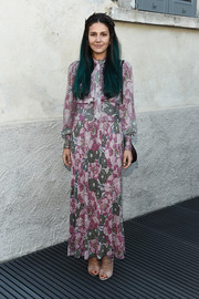 Margherita Missoni was hippie-glam in a floral maxi dress at the 'TV 70: Francesco Vezzoli Guarda La Rai' private view.