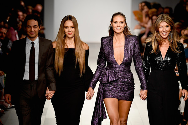 Zac Posen, Jessica Alba, Heidi Klum and Nina Garcia  at the Project Runway Fashion Show