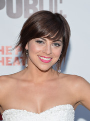 Krysta Rodriguez looked modern with her short scene cut at the 'One Thrilling Combination' celebration.