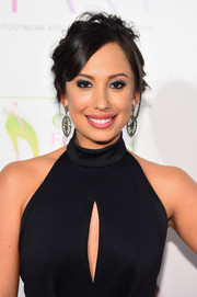 Cheryl Burke pulled her hair back into a messy updo for the FFANY Shoes on Sale event.