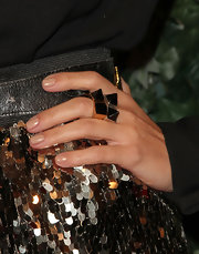 Kourtney loves to accessorize her look and the QVC Style party was no different. She completed her look with pyramid stud rings.