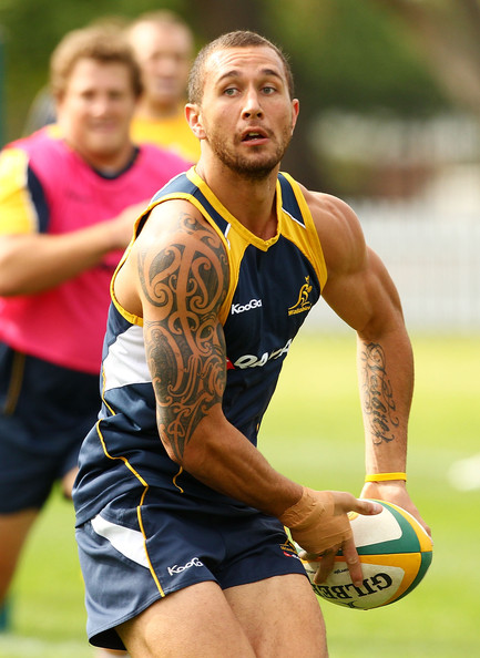 Quade Cooper Body Art
