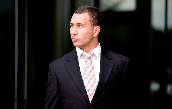 Quade Cooper Striped Tie