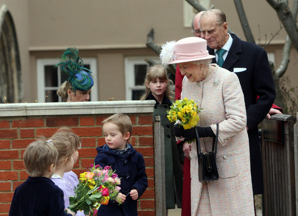 The Royal Family Attend The Easter Matins Service At Windsor Castle