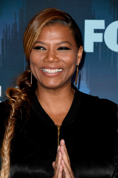 Queen Latifah Long Braided Hairstyle