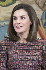 Queen Letizia of Spain attended several audiences at Zarzuela Palace wearing her signature mid-length bob.