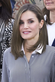 Queen Letizia of Spain was stylishly coiffed with this mid-length bob while attending audiences at Zarzuela Palace.