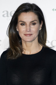 Queen Letizia of Spain looked simply elegant with her straight shoulder-length 'do while attending a cancer forum in Madrid.