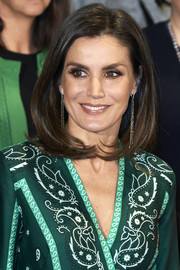 Queen Letizia of Spain looked beautiful with her bouncy lob at the AFAMMER International Congress.