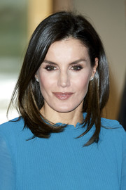 Queen Letizia of Spain attended the Ibedrola Foundation Scholarships event wearing her signature mid-length bob.