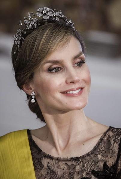 Queen Letizia of Spain Dangling Diamond Earrings