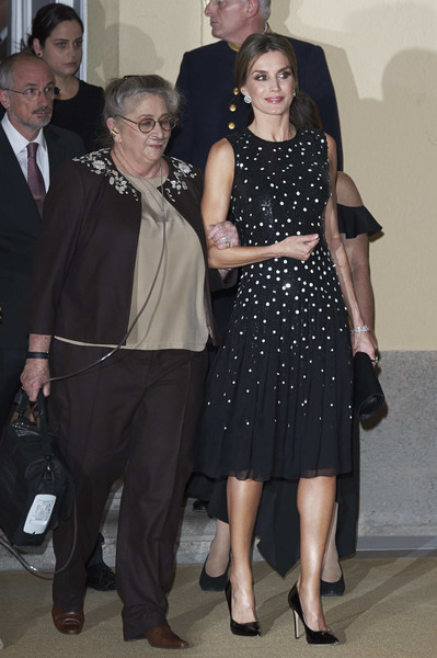 Queen Letizia of Spain Sequin Dress