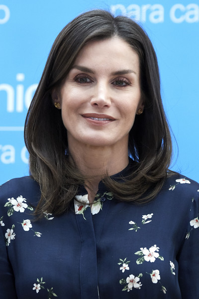 Queen Letizia of Spain Mid-Length Bob [hair,hairstyle,black hair,long hair,queen,letizia,spain,madrid,letizia of spain attends,csic,unicef spanish committee awards]