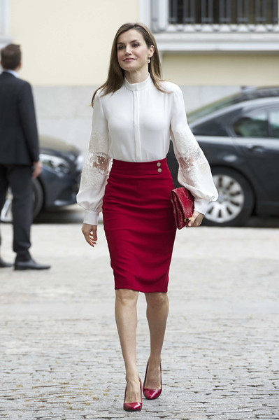 Queen Letizia of Spain Fitted Blouse